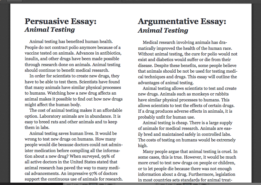 persuasive essay example for college