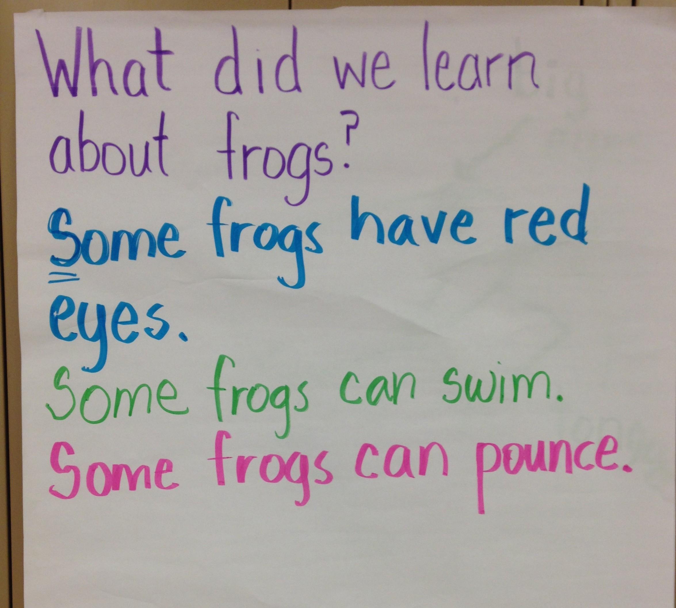 shared writing and preschool