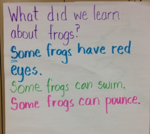 shared writing nic bishop frogs