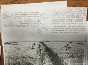 student annotated text 5th