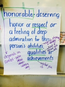 Honorable anchor chart